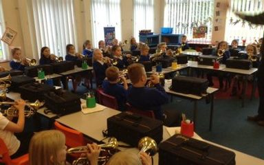 Year 3 & Miniband at Woodhorn