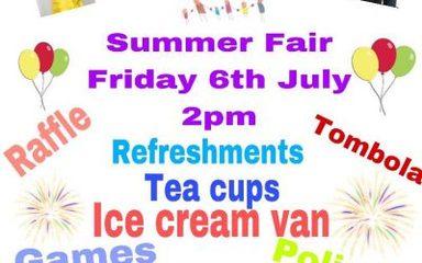 PTA Summer Fair 2pm Start